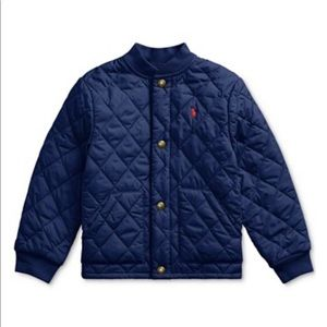Polo Ralph Lauren blue quilted jacket-3T